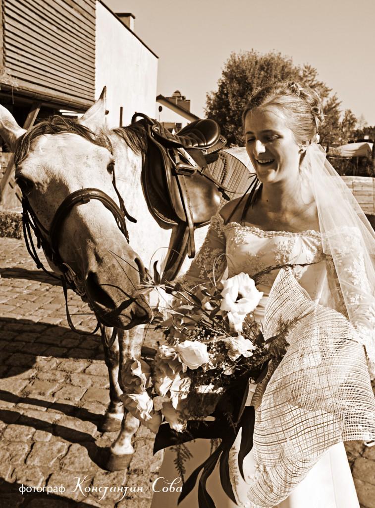 свадебный фотограф внимателен ко всем участникам свадьбы